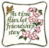 As Time Flies Let Friendship Stay Pillow