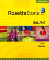 Rosetta Stone Italian Level 2 with Audio Companion Homeschool Edition, Version 3