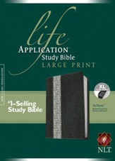 NLT Life Application Study Bible: Large Print, Tutone Back/Vintage Ivory Floral Leatherlike, Indexed - Imperfectly Imprinted Bibles