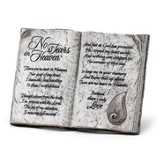 No Tears in Heaven Tabletop Plaque
