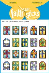 Stickers: Stained Glass Crosses