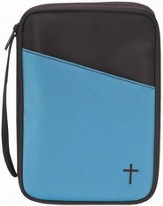 Thinline Bible Cover, Brown and Teal