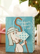 Peanuts Snoopy, Peace on Earth Gift Bag, Medium