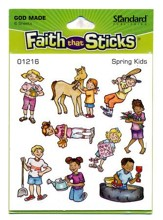 Stickers: Spring Kids