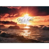 God is Light, John 1:5 Mounted Print