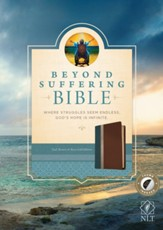 NLT Beyond Suffering Bible, TuTone Teal/Brown/Rose Gold Indexed Leatherlike