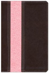 NLT Study Bible TuTone Imitation Leather, dark brown/pink