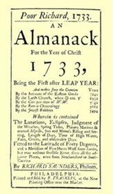 Poor Richard's Almanack 1733