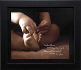 Tiny Feet, May This Little One Grow to Love You Lord, Framed Print