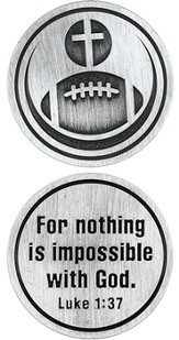 For Nothing is Impossible Football and Cross Pocket Stone
