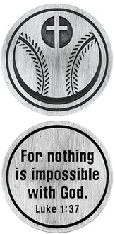 For Nothing is Impossible Baseball and Cross Pocket Stone