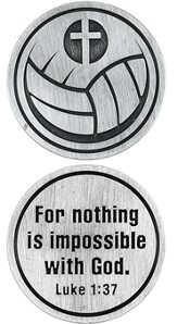For Nothing is Impossible Volleyball and Cross Pocket Stone