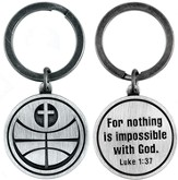 For Nothing is Impossible Basketball and Cross Keyring