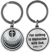 For Nothing is Impossible Golf Ball and Cross Keyring