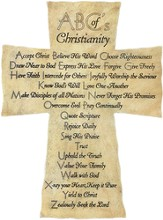 ABCs of Christianity Cross, Resin