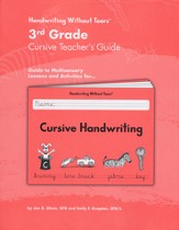 Cursive Handwriting Grade 3 Teacher's Guide