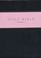 NLT Holy Bible, Giant Print TuTone Imitation Leather, pink/brown