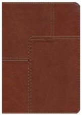 NLT Life Application Study Bible, soft imitation leather, midtown brown with thumb index - Imperfectly Imprinted Bibles