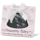 Heavenly Baby, Psalm 139:14 Photo Frame, Pink
