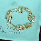 Shield of Faith Link Bracelet, Gold Plated