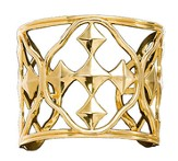 Shield of Faith Cuff Bracelet, Gold Plated