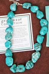 Turquoise Necklace for Shield of Faith Pendant