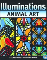 Animal Art: Illuminations Stained Glass Coloring Book
