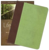 HCSB Life Essentials Study Bible, Simulated Leather Brown/Green