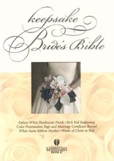 HCSB Bride's Bible White with Silver