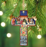 Nativity Cross Ornament from Heartwood Creek