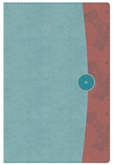 HCSB The Study Bible for Women, Sky Blue and Red Clay LeatherTouch, Thumb-Indexed