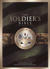 HCSB Soldier's Bible--bonded leather, army green  - Imperfectly Imprinted Bibles
