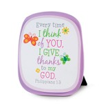 Every Time I Think of You I Give Thanks--Wood Plaque