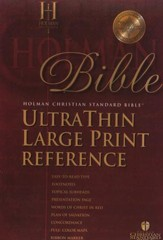 HCSB UltraThin Reference Bible, Large Print Bonded Leather, Black