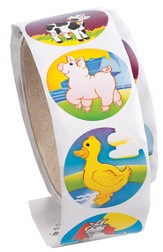 Cowabunga Farm VBS: Farm Animal Sticker Roll (100 stickers)