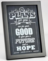 His Plans, Chalkboard Plaque