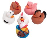 Farm Animal Rubber Duckies, pack of 6