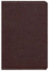 KJV Super Giant Print Reference Bible Burgundy Genuine Leather, Thumb Indexed - Slightly Imperfect