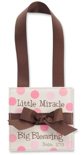 Little Miracle Door Hanger, Pink