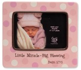Little Miracle Photo Frame, Pink