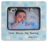 Little Miracle Photo Frame, Blue
