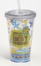 Jesus Is A Girl's Best Friend Tumbler