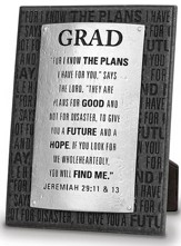 Grad, For I Know the Plans Plaque