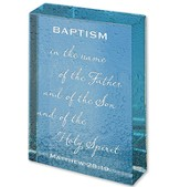 Baptism, Glass Paperweight