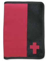 Canvas Wallet Style Bible Cover,  Pink, Black, Large