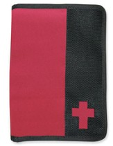 Canvas Wallet Style Bible Cover,  Pink, Black, Medium