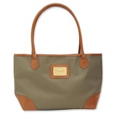 Bucket Tote with Faith Accent, Tan