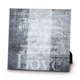 Love, Three Things Will Last Forever, Canvas Print