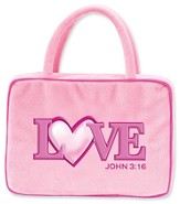 Love Heart Plush Cover, Pink