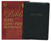 HCSB Super Giant Print Reference Bible, Bonded Leather, black